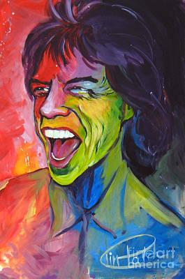 Mick Jagger Art Print by Tim Patch