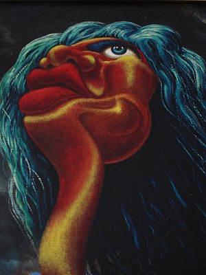 Mick Jagger's Image Art Print by Genio GgXpress