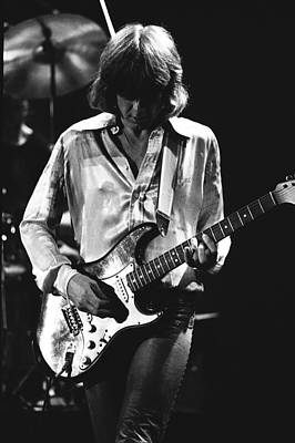 Photograph - Mick On Guitar 1977 by Ben Upham