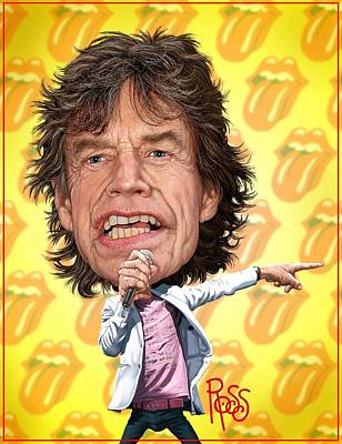 Digital Art - Mick Jagger by Scott Ross