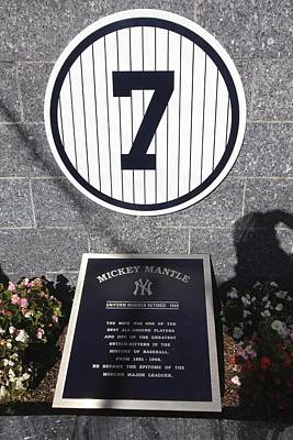 Photograph - Mickey Mantle by Allen Beatty