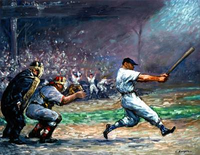 Ny Yankees Painting - Mickey Mantle by Clyde Singer