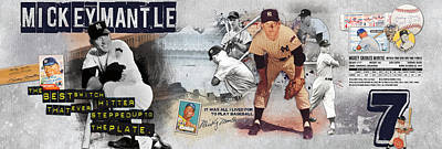 Mickey Mantle Panoramic Art Print by Retro Images Archive