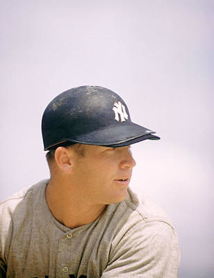 Mickey Mantle Ready To Swing Print by Retro Images Archive
