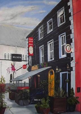 Night Out Painting - Mickey Martins Limerick by Dominic Mc Namara
