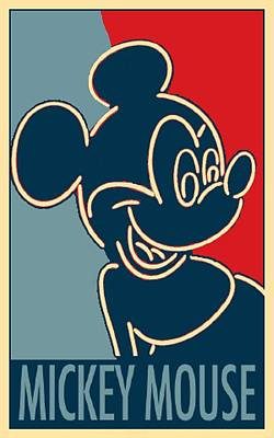Mickey Mouse Neon In Hope Art Print by Rob Hans