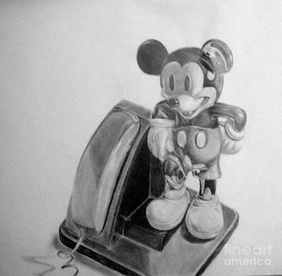 Drawing - Mickey Phone by Tamir Barkan