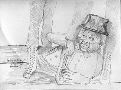 Mickey Rooney Drawing - Mickey Rooney by Joe Hagarty