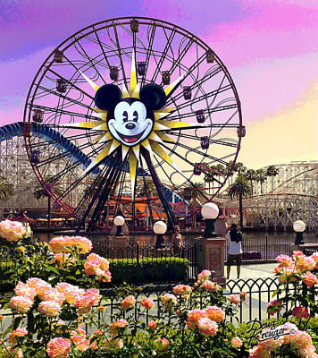 Digital Art - Mickey's Fun Wheel II by Doug Kreuger