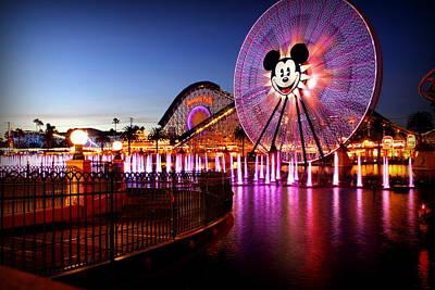 Disney Photograph - Mickey's Water Wheel by Allison Werbicki