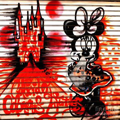 Mick's Girl           ' Urban Door ' Art Print