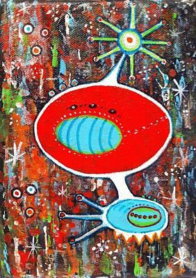 Microcosmic Twilight Art Print by Debra Jacobson