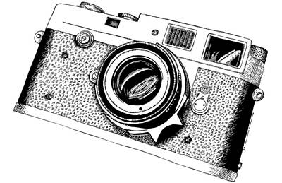 Drawing - Micron Camera by Karl Addison