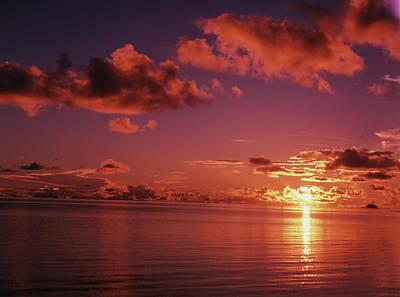 Micronesia, Palau, Koror, View Of Sea Art Print