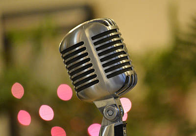 Photograph - Microphone by Cathy Jourdan