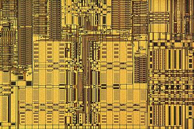 Circuit Board Photograph - Microprocessor Instruction Decode Unit by Antonio Romero