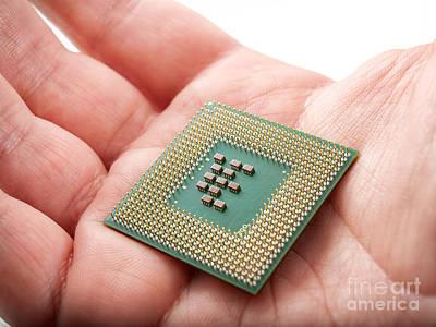 Processor Photograph - Microprocessor by Sinisa Botas