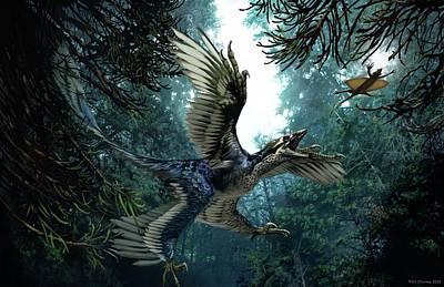 Microraptor Art Print by Jaime Chirinos