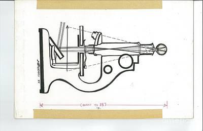 Microscope Medical Illustration Original by Valerie VanOrden