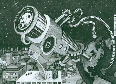 Drawing - Microscope Or Telescope by Richie Montgomery