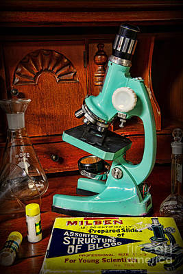 Microscope The Young Scientist Art Print by Paul Ward