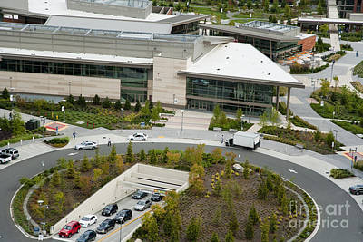 Redmond Photograph - Microsoft Corporate Headquarter's West Campus Redmond Wa by Andrew Buchanan via Latitude Image