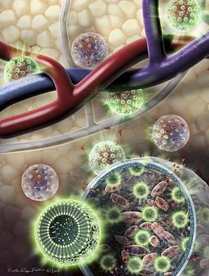 Microspheres In Mri Scanning Art Print