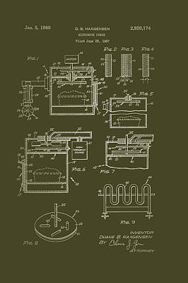 Microwave Oven Patent 1960 Art Print
