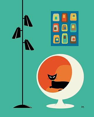Eames Digital Art - Mid Century Mini Oblongs by Donna Mibus