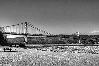 Mid Hudson Bridge In Winter 2 Art Print by Linda Covino