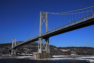Mid Hudson Bridge In Winter Art Print by Linda Covino