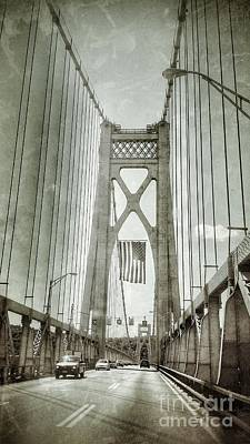 Mid Hudson Suspension Bridge Art Print
