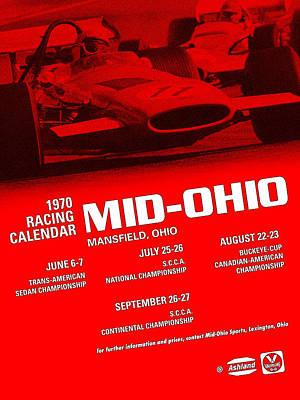 Digital Art - Mid Ohio Race by Gary Grayson