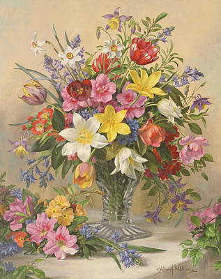 Pheasant Wall Art - Painting - Mid Spring Glory by Albert Williams