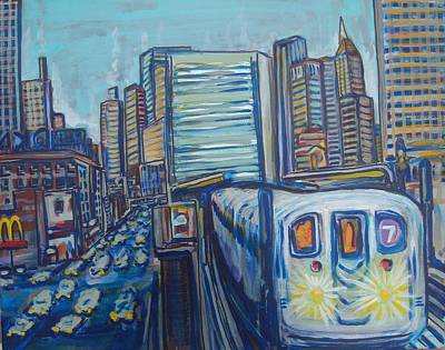 Mid-town Subway Tunnel Art Print by Mitchell McClenney