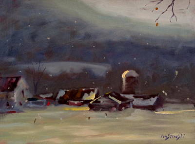 Painting - Mid Winter by Len Stomski