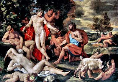 Painting - Midas And Bacchus by Nicolas Poussin
