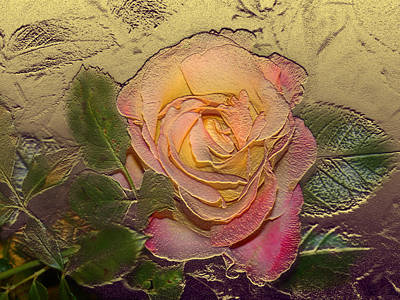 Digital Art - Midas Rose by Steve Karol