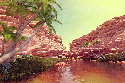 Digital Art - Midday At The Oasis by Matt Lindley