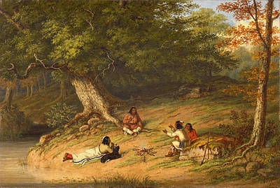 Midday Painting - Midday Rest by Cornelius David Krieghoff