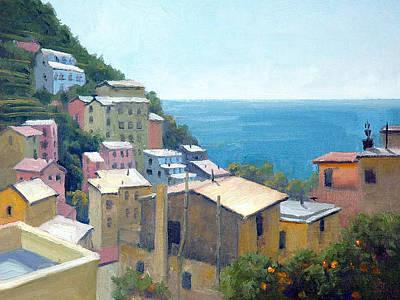 Riomaggiore Painting - Midday Riomaggiore by Armand Cabrera