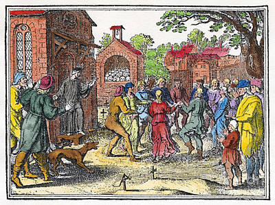 Middle Ages Dancing Mania Print by Granger