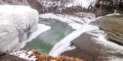 Photograph - Middle Falls And Ice Feathers by Guy Whiteley