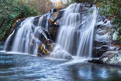Middle Falls At Snowbird Creek Art Print by Debra and Dave Vanderlaan