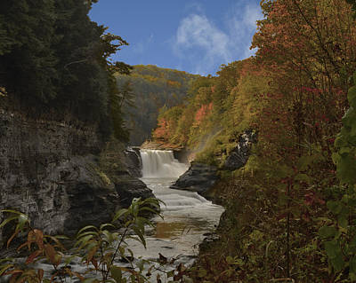 Photograph - Middle Falls Letchworth Sp by Walt Sterneman