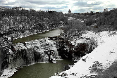 Middle Falls Rochester Ny Art Print by Richard Engelbrecht