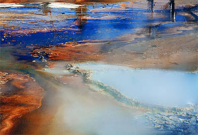 Abstract Animalia - Middle Geyser Yellowstone National Park by Geri Brown