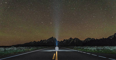 Middle Of The Road Art Print