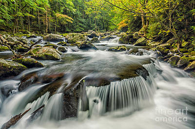 Photograph - Middle Prong Cascade by Anthony Heflin