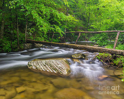 Photograph - Middle Prong Foot Bridge by Anthony Heflin